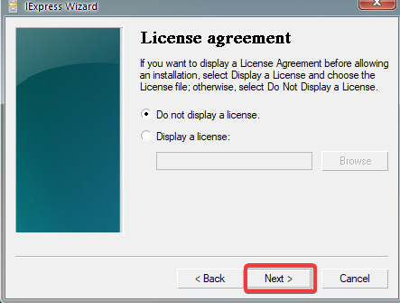 Setting up a License Agreement