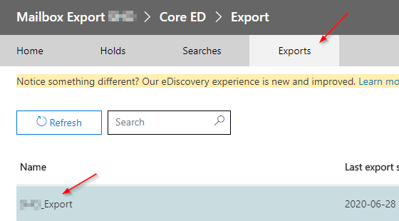 Listing the placed export orders