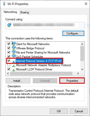 Accessing IPv4 Properties.